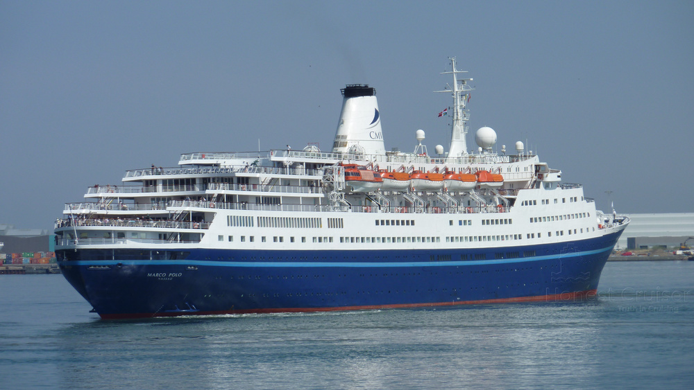 Marco Polo preparing to berth