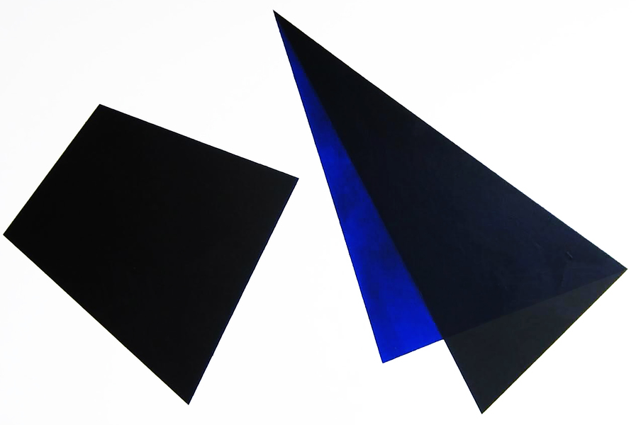Black and Blue Shapes