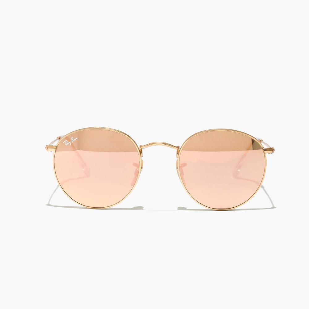 Ray-ban® round flash sunglasses