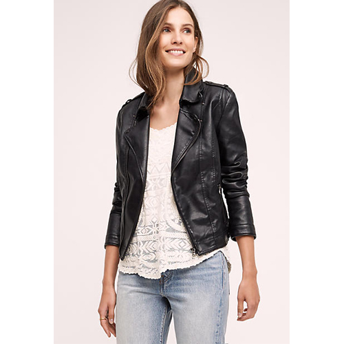 Vegan Leather Moto Jacket by Jakett