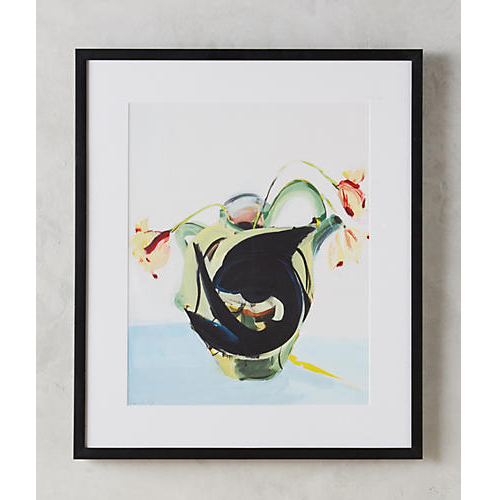 Fish And Vase Wall Art by Daniela Orlev for Artfully Walls