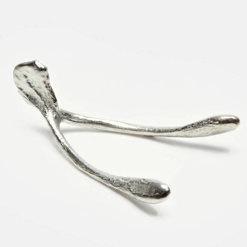 Herbert Hoover Pewter Wishbone