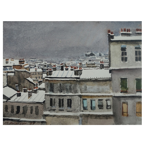 Montmartre in Snow by Michael Patterson
