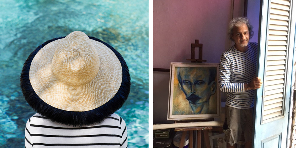 Striped staples from  Chance , and stripes in Havana via the  Kule blog .