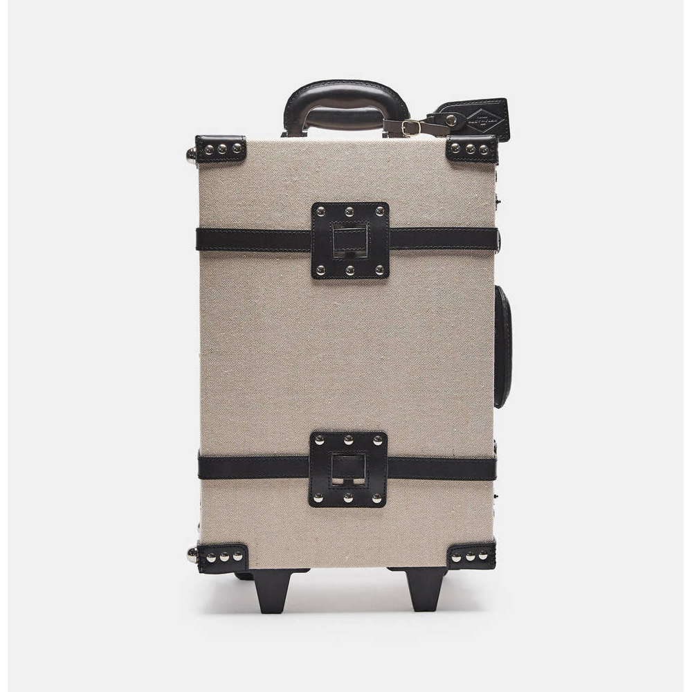 Steamline Luggage The Editor Series Linen and Leather Carry-On
