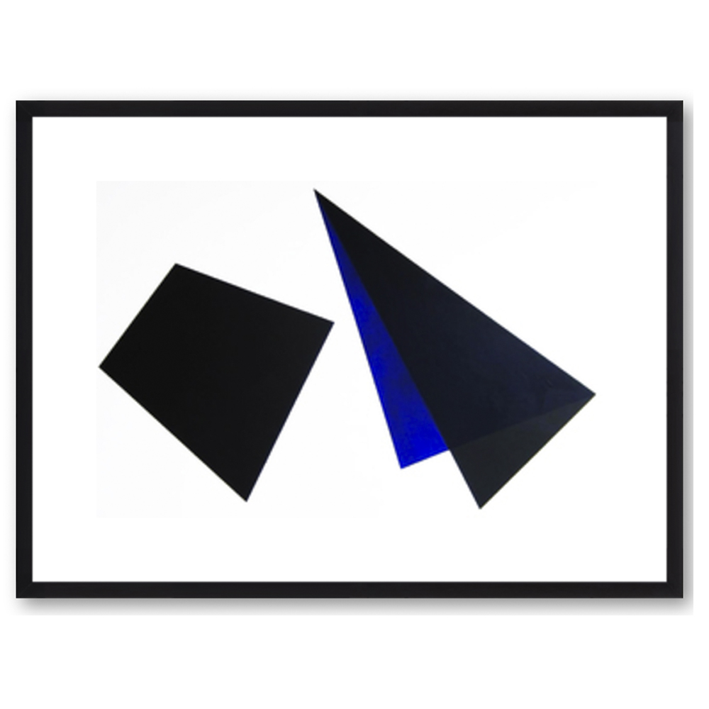 Black and Blue Shapes by Anna Ullman