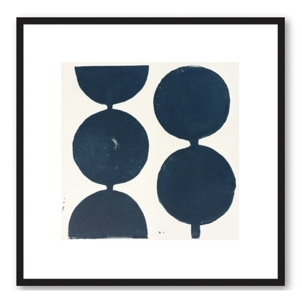 Modern Circles in Midnight Blue by Stacy Rajab