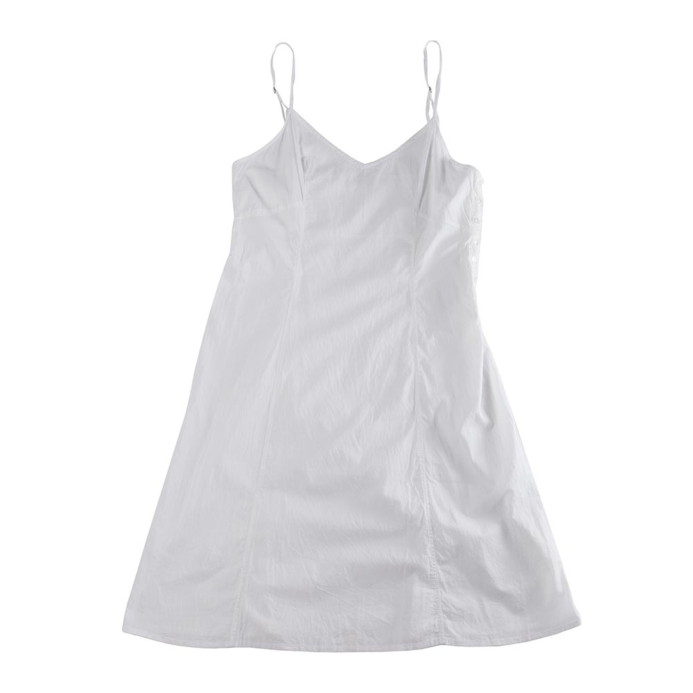 White Organic-Cotton Nightgown with Side Buttons