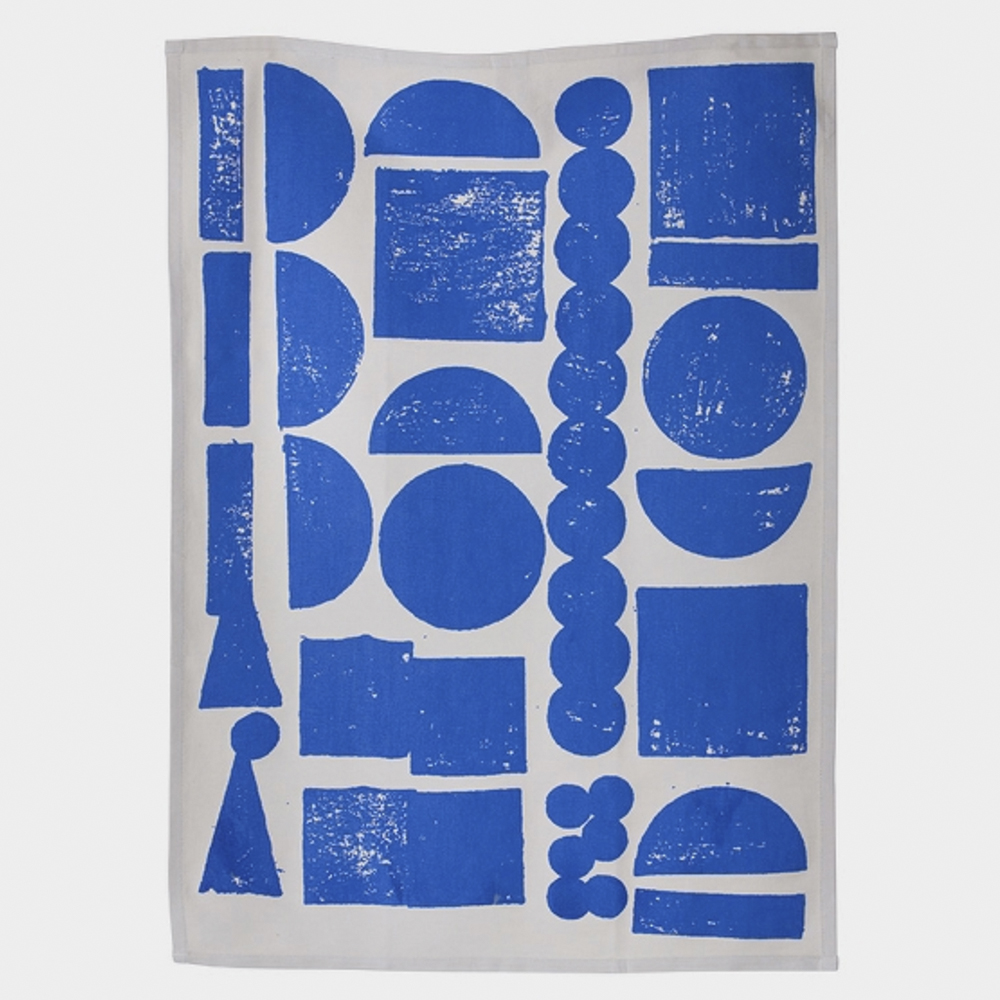 Stamp Tea Towel - Blue
