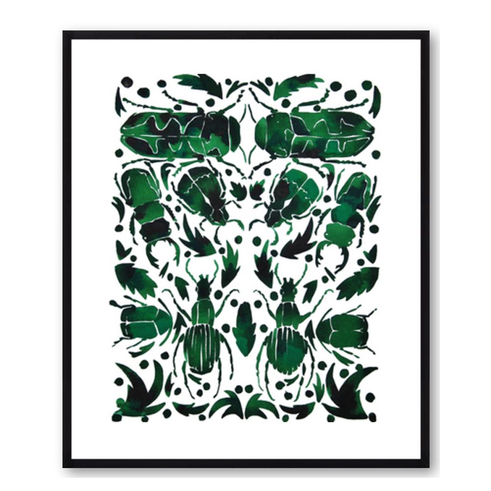 Emerald Beetles by Kate Roebuck