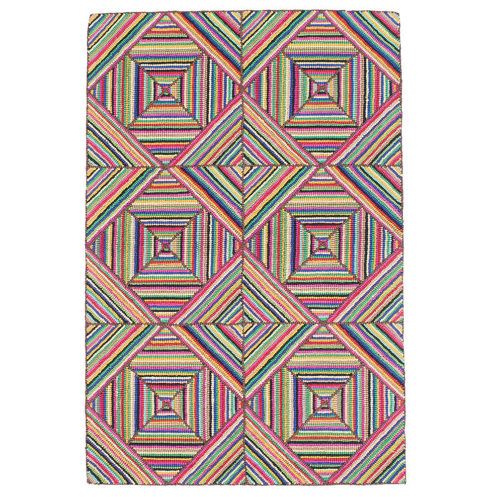 KALEDO PRIMARY COTTON MICRO HOOKED RUG