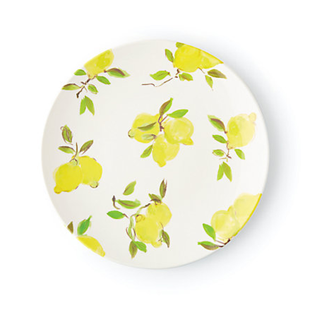 lemon melamine dinner plate