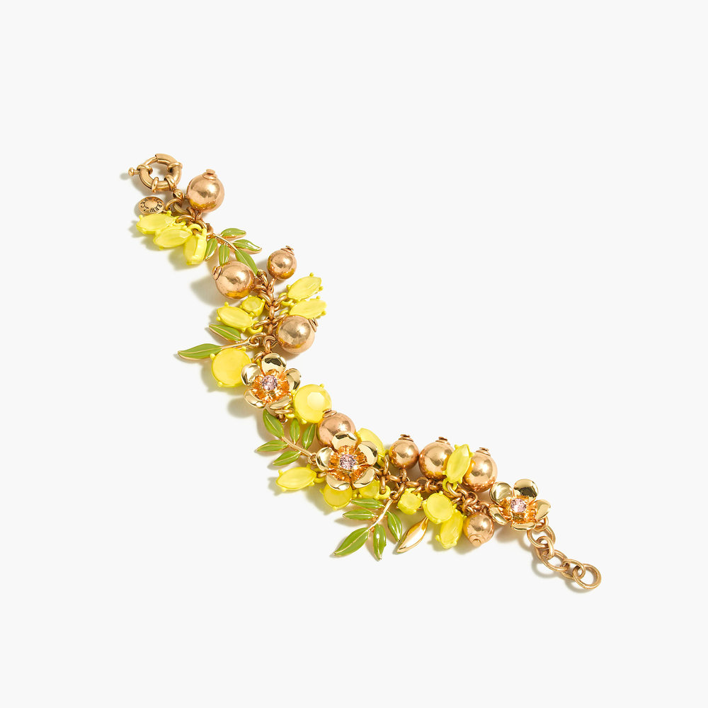 Lemon tree charm bracelet
