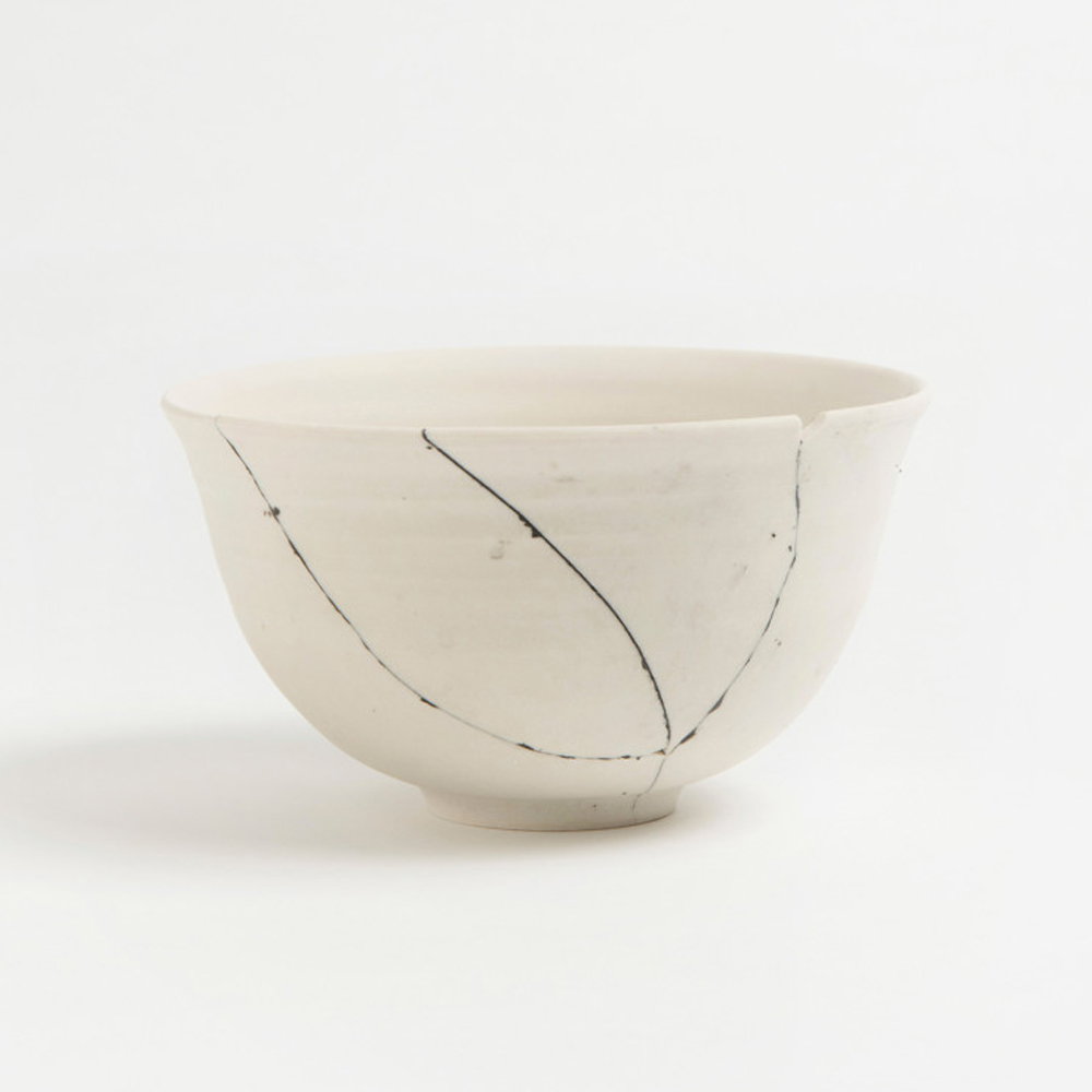 White Fracture Bowl No. 2 Unique Piece