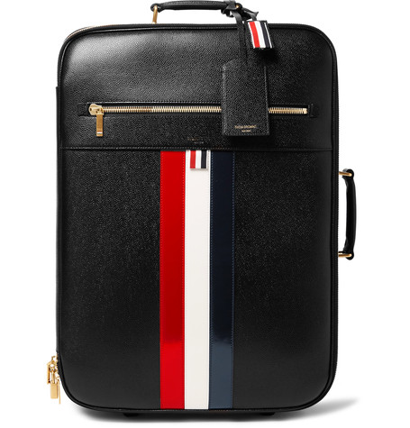 THOM BROWNE Pebble-Grain Leather Suitcase
