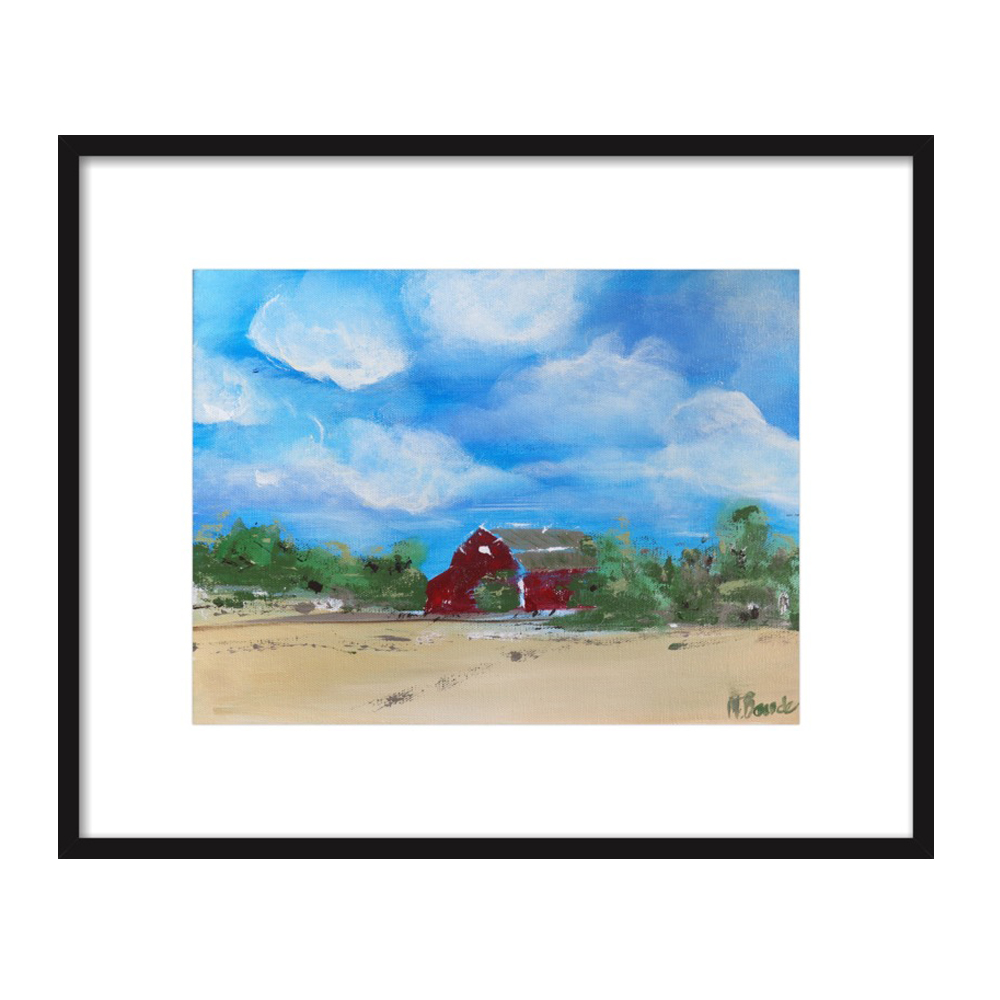Country Barn by Mary Baude