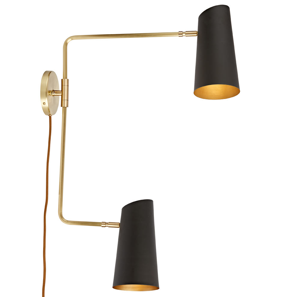 CYPRESS DOUBLE SWING ARM SCONCE PLUG-IN