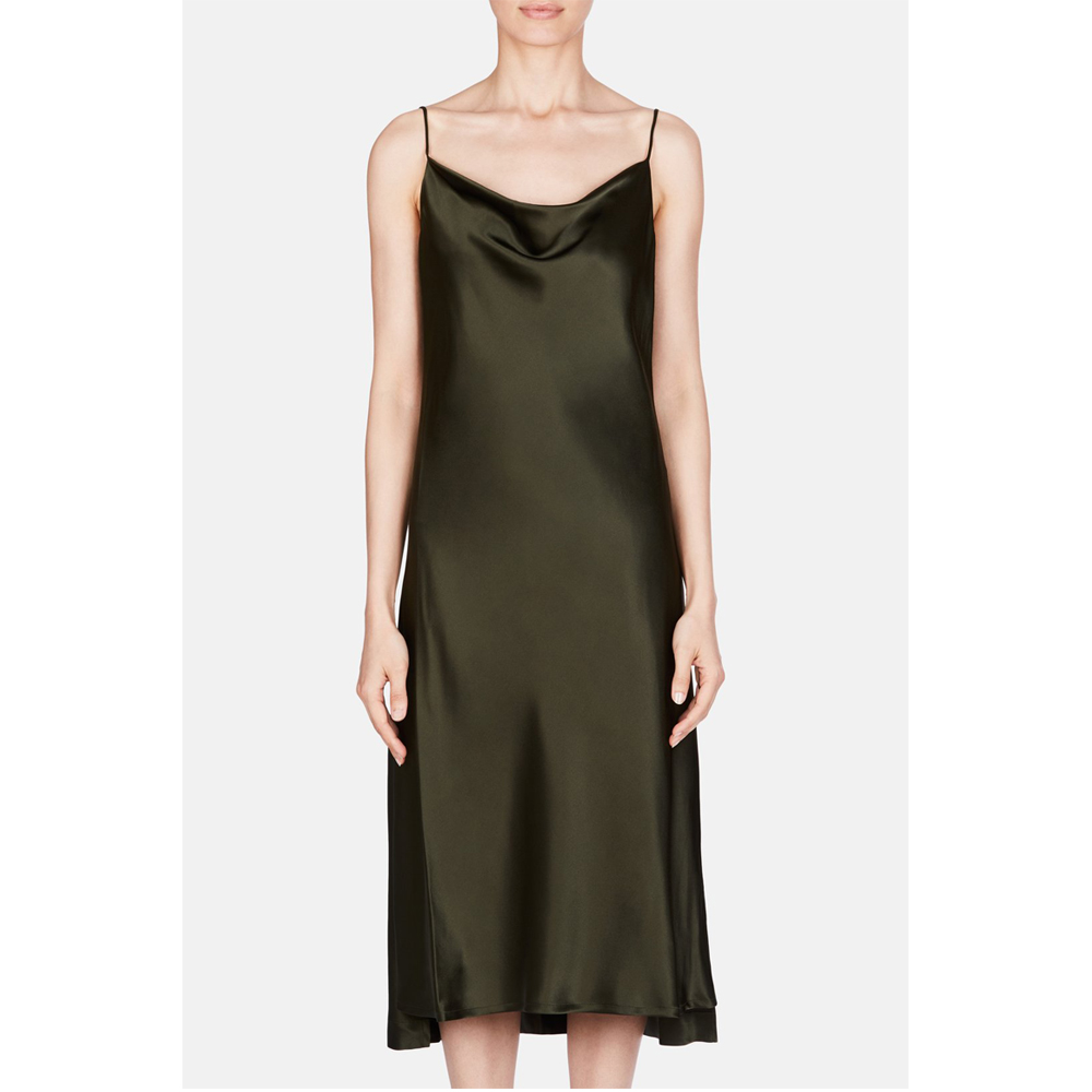 Protagonist Dress 61 Draped Bias Slip - Olive