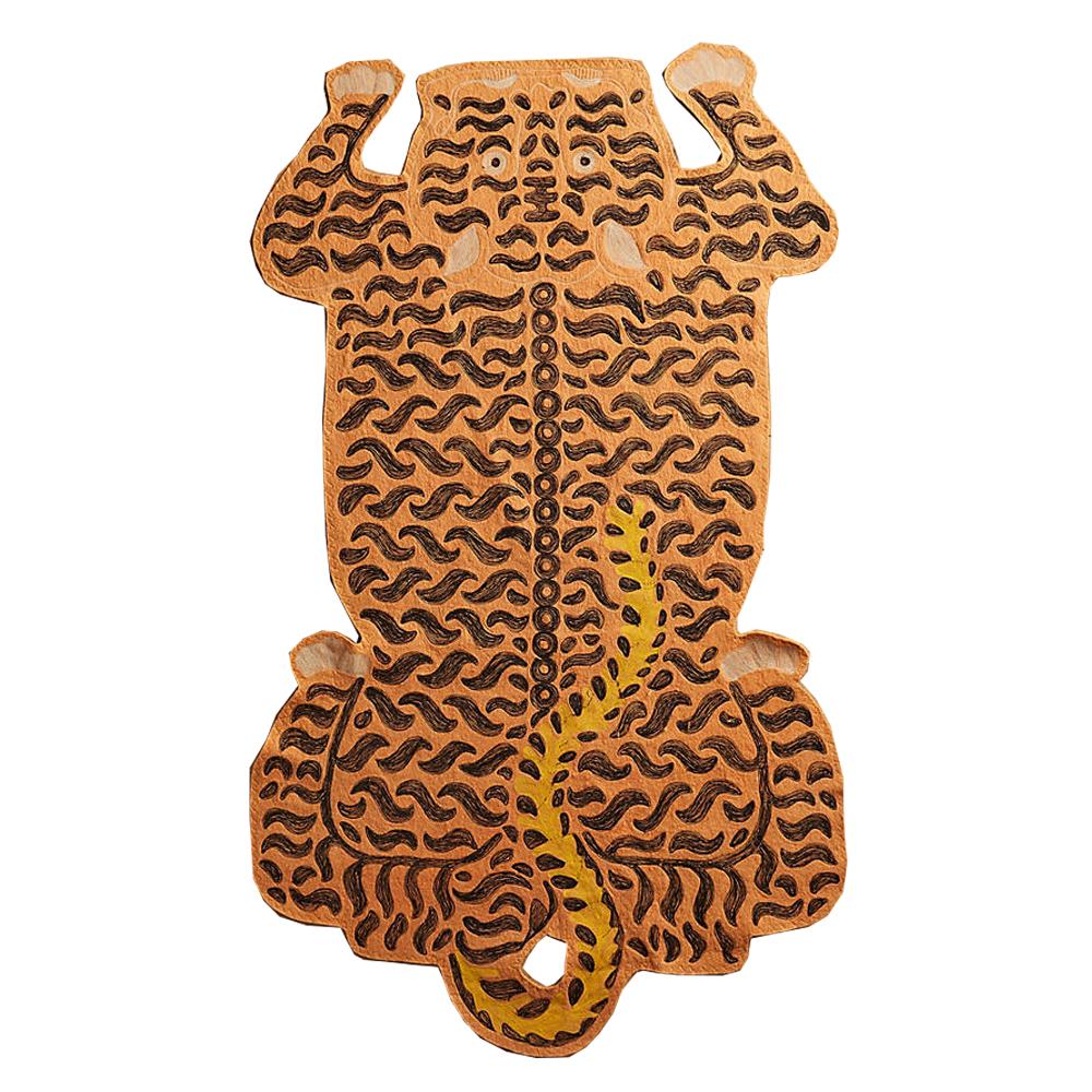 Embroidered Tiger Rug