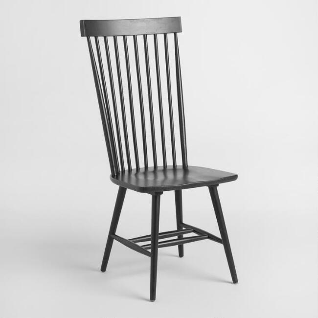 Black Wood Kamron High Back Windsor Chairs