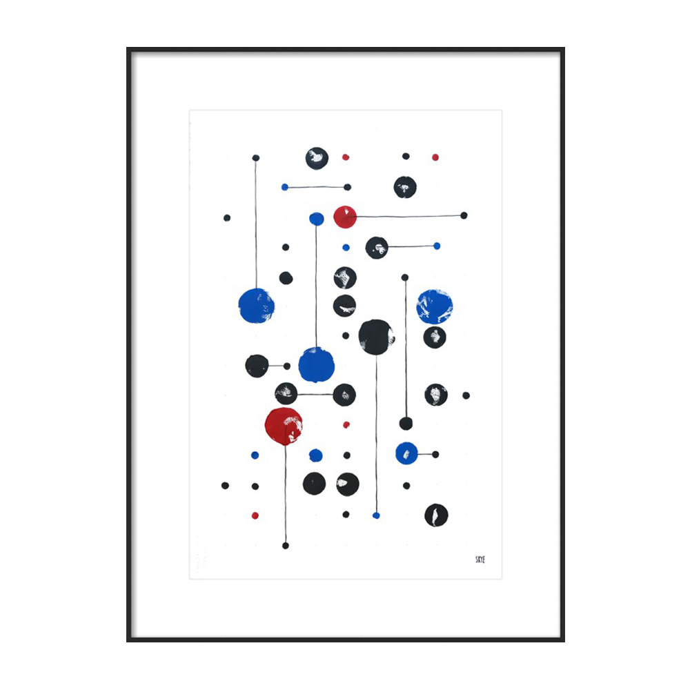 33 black 6 red 11 blue by Skye Schuchman
