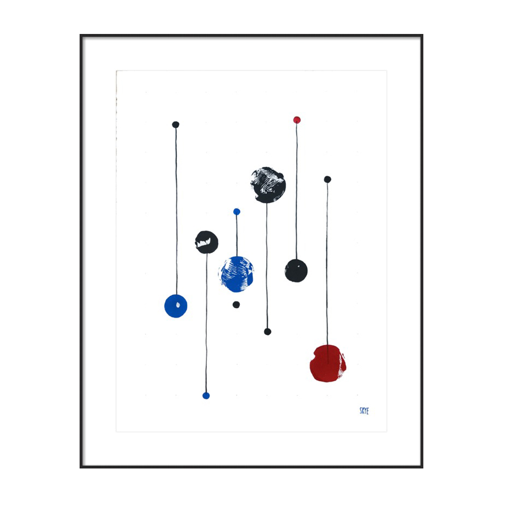 7 black 2 red 4 blue by Skye Schuchman