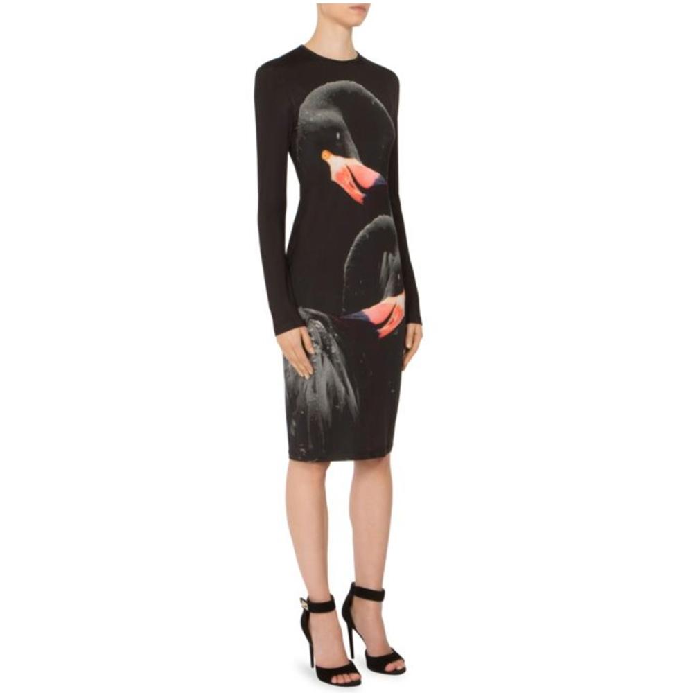 Givenchy Flamingo Jersey Sheath Dress