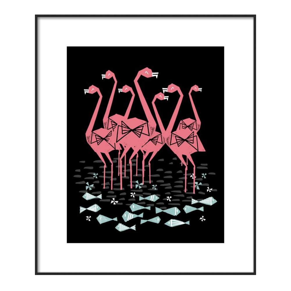Flamingos by Andrea Lauren