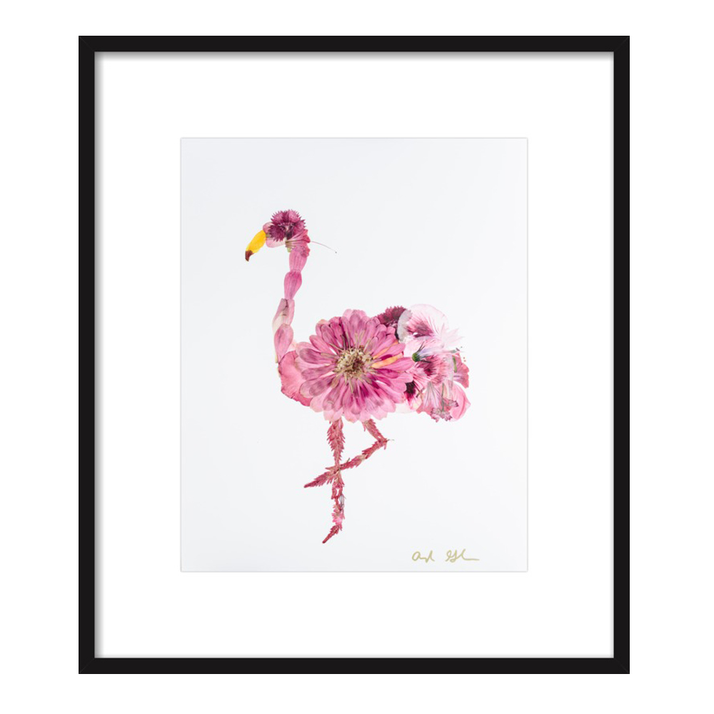Floral Flamingo by Ayla Graham