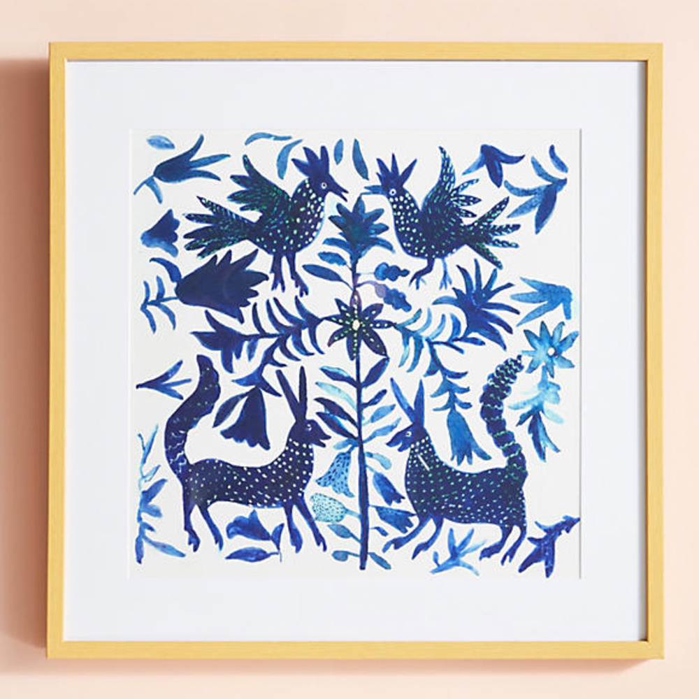 Otomi Blue Wall Art