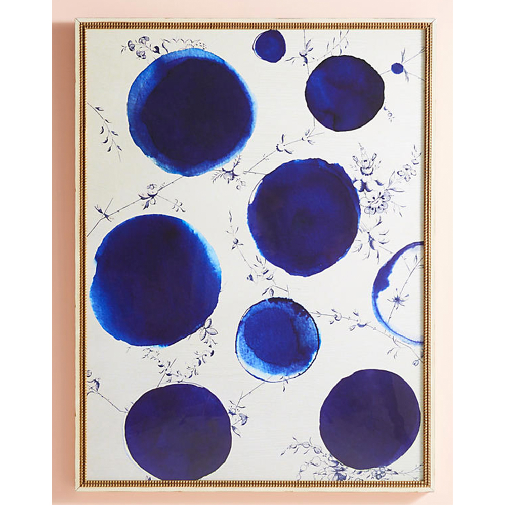 Blue Dots Wall Art