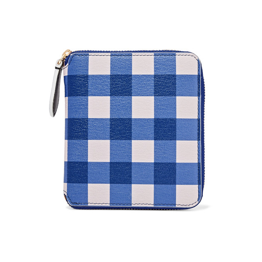DIANE VON FURSTENBERG Medium gingham textured-leather wallet