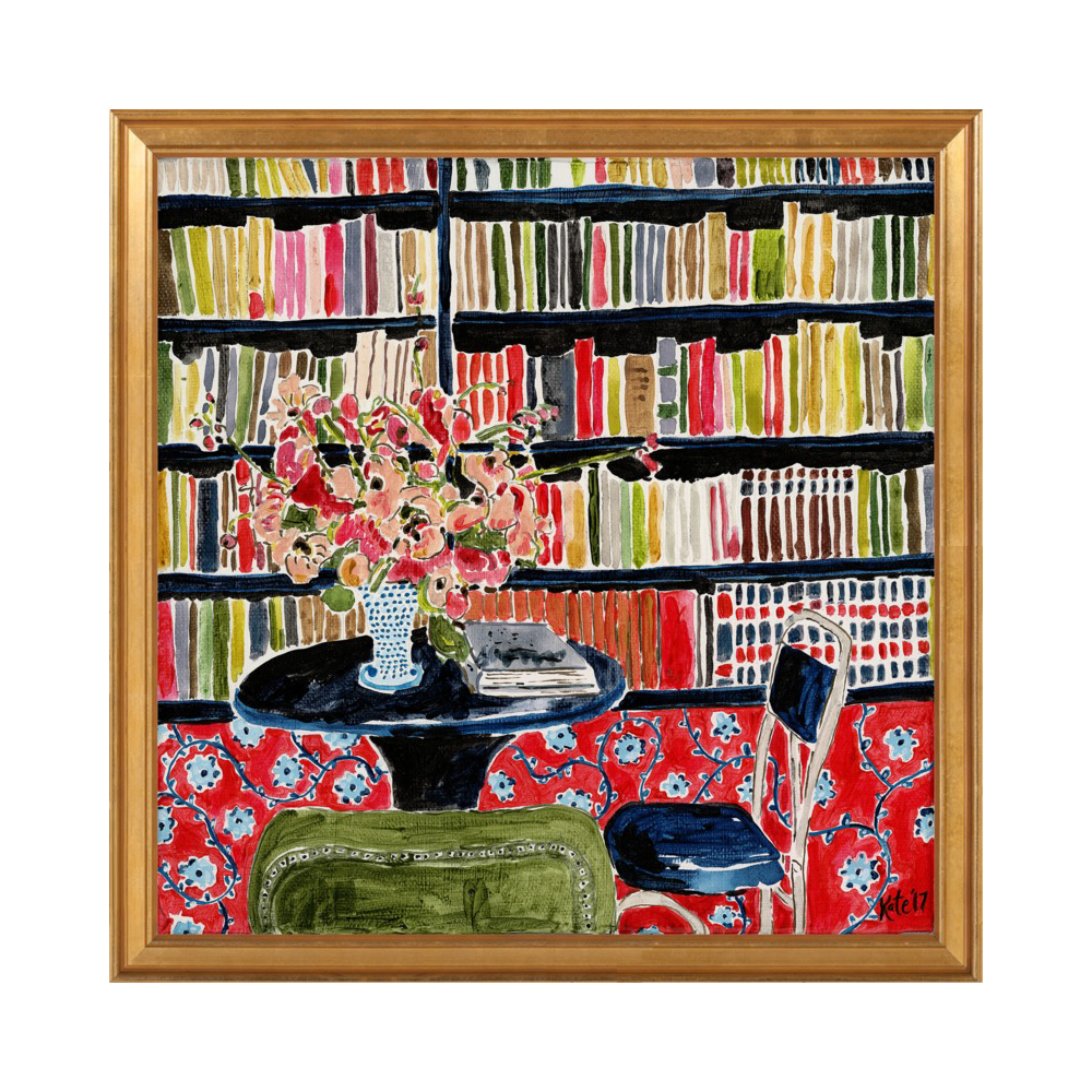 Books with Flowers by Kate Lewis