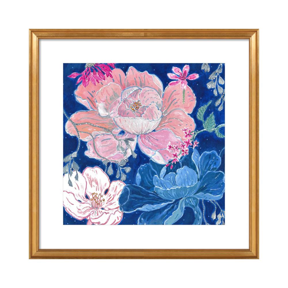 Blue Floral by Miri Eshet