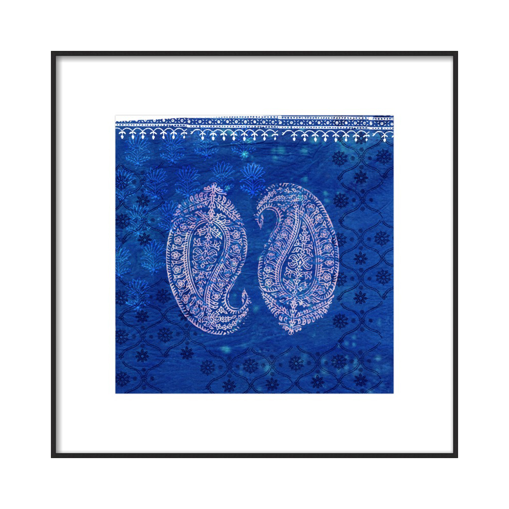 Paisley on Blue by Ruti Shaashua