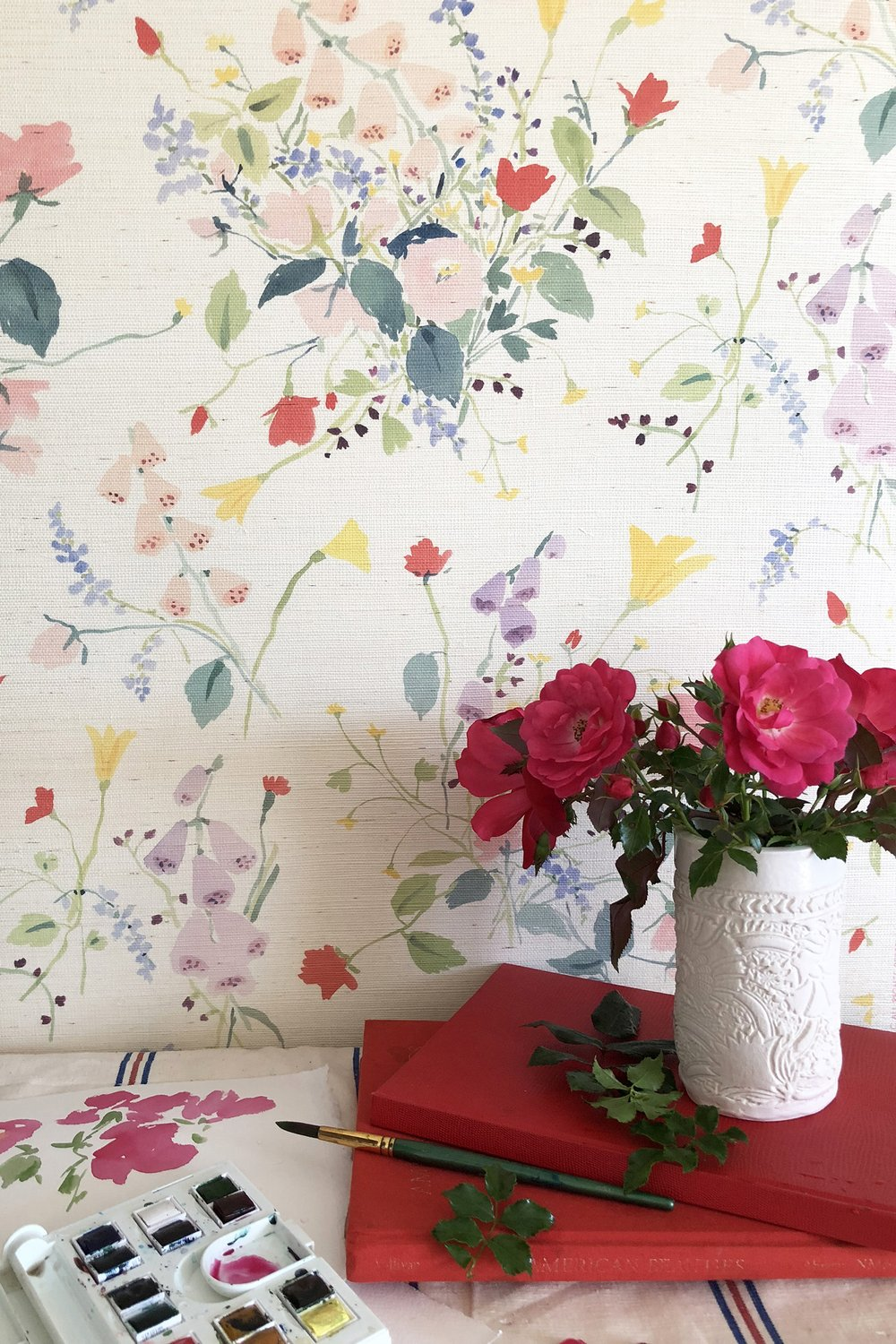 Spring florals that we're dying to paper a powder room in!