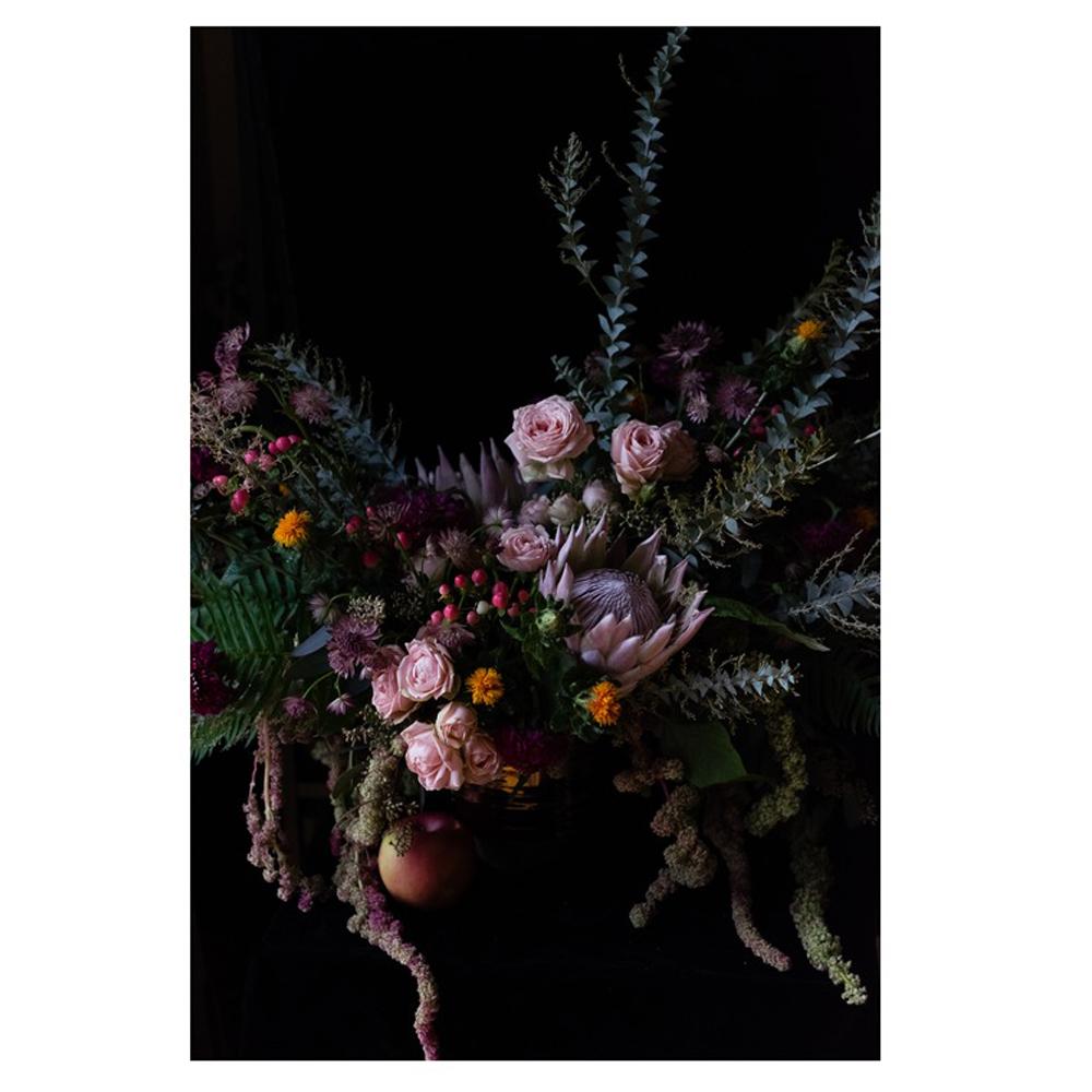 Extravagant Floral Featuring King Protea by Emilia Jane Schobeiri