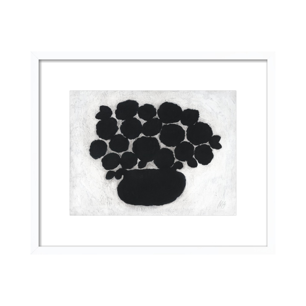 Black Flower Pot by Rob Blackard