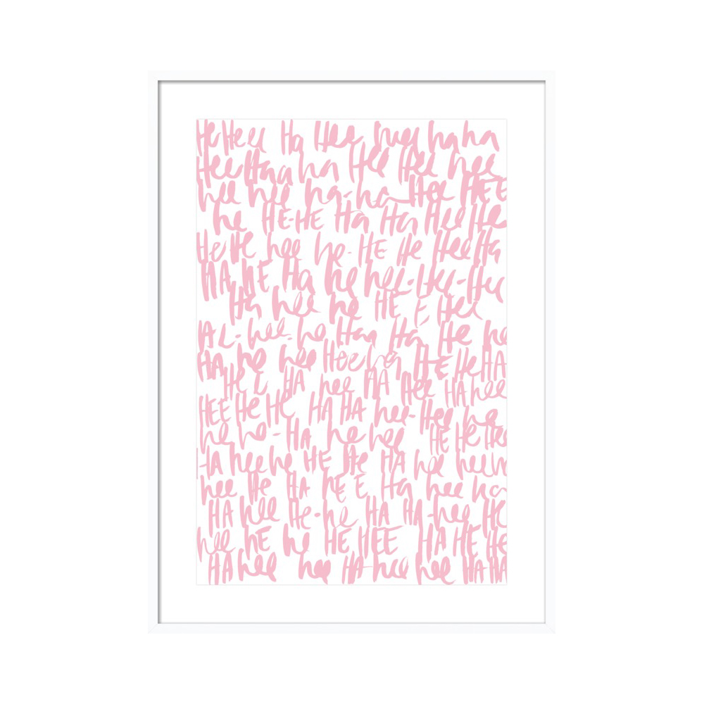 Hee Ha Ha - Pink by Kate Roebuck
