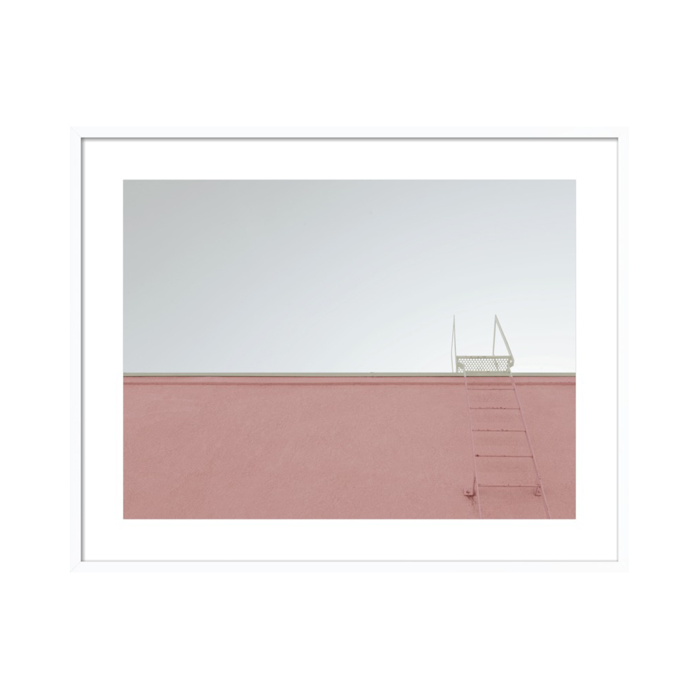 Pink Wall with Ladder Los Angeles by Lucy Snowe