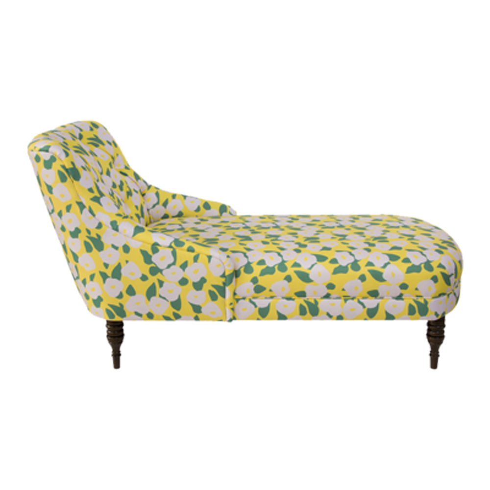 Clare V. X The Inside Chaise Lounge Yellow and Pink Belle Du Jour