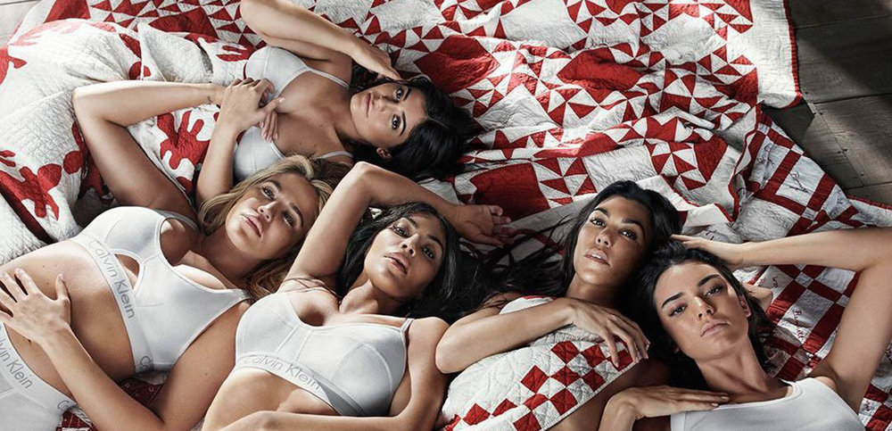 The  Our Family #MYCALVINS campaign , featuring the Kardashian and Jenner sisters.