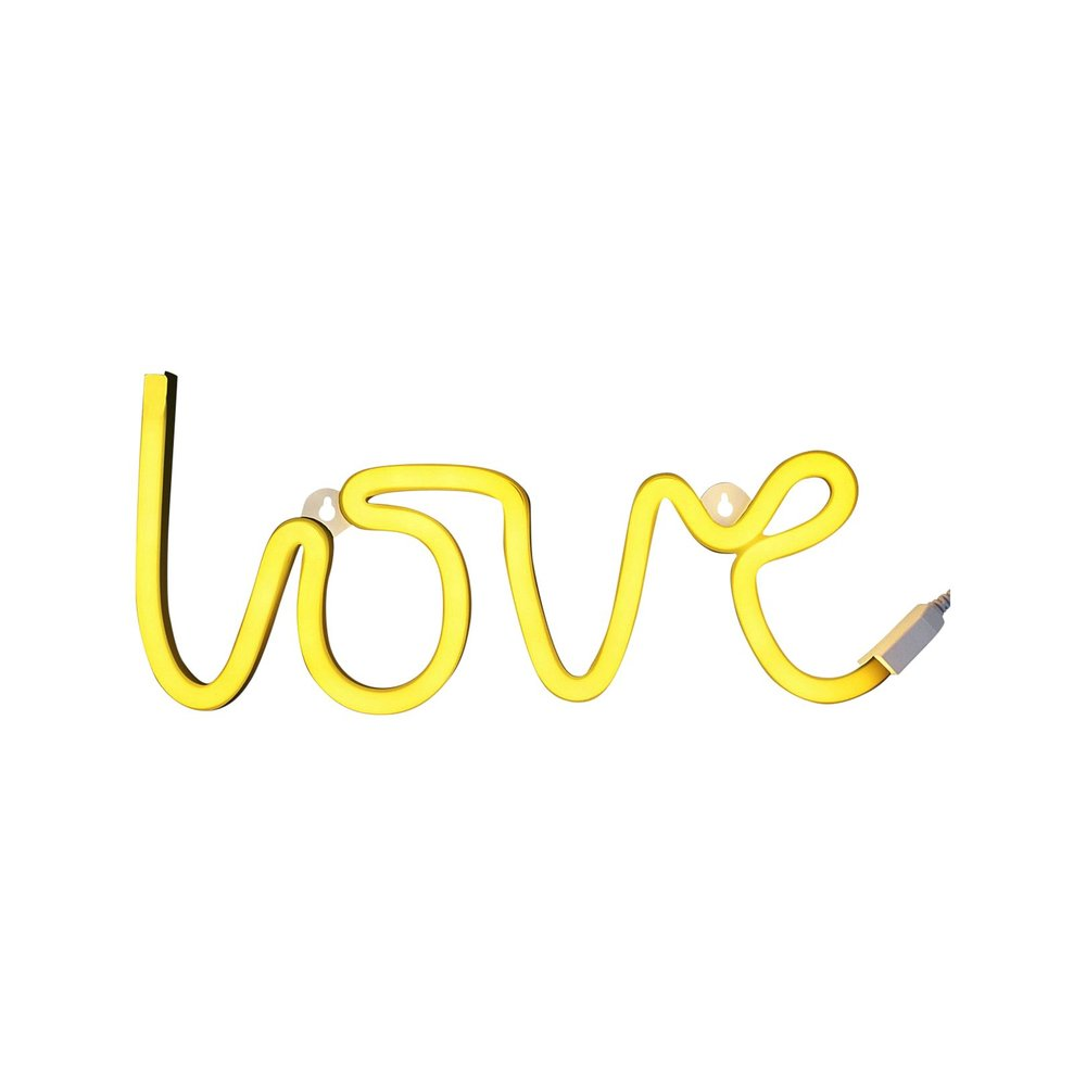 A Little Lovely Company Neon Love Light, Yellow