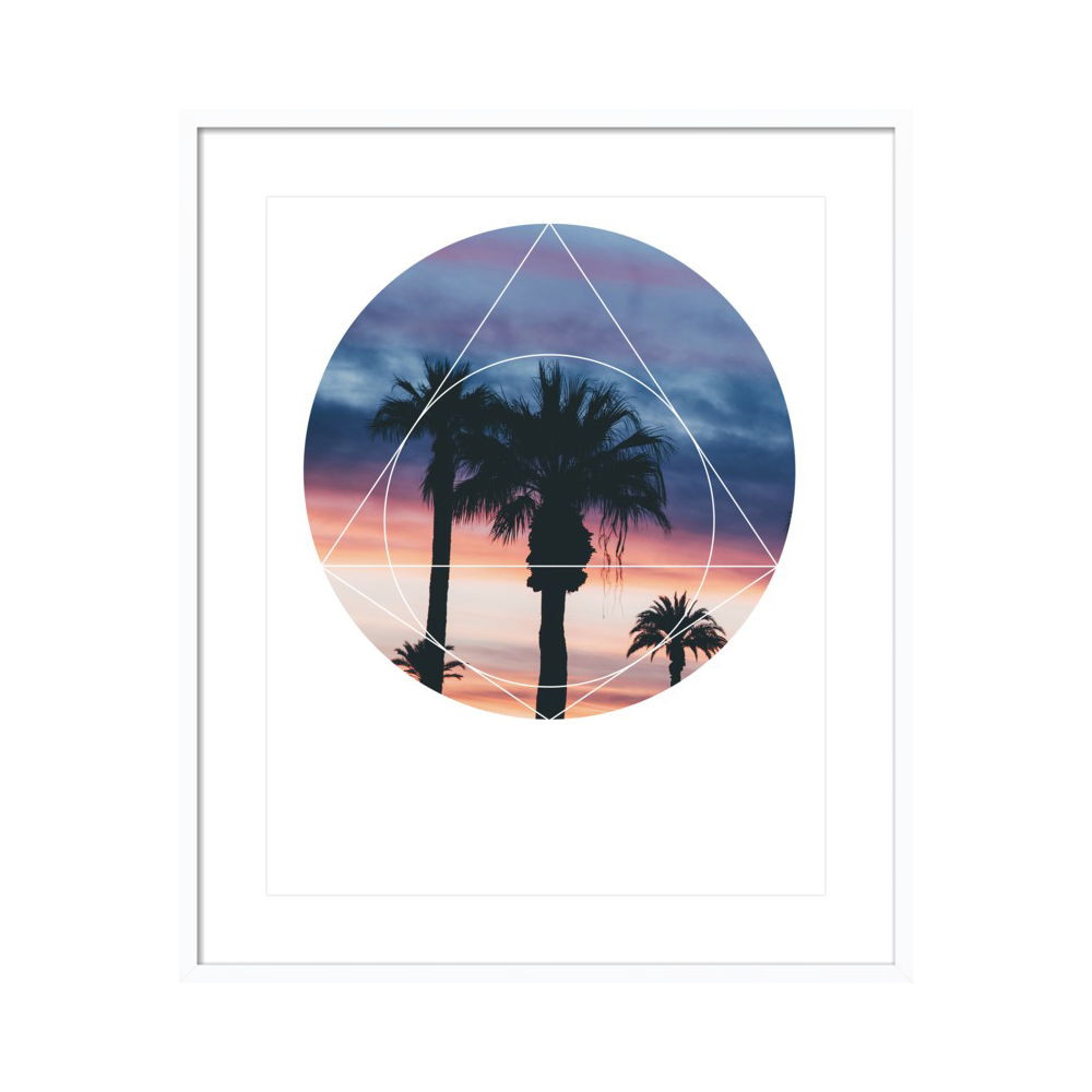 Sunset Palms - Geometric Photography by Emiliano Deificus