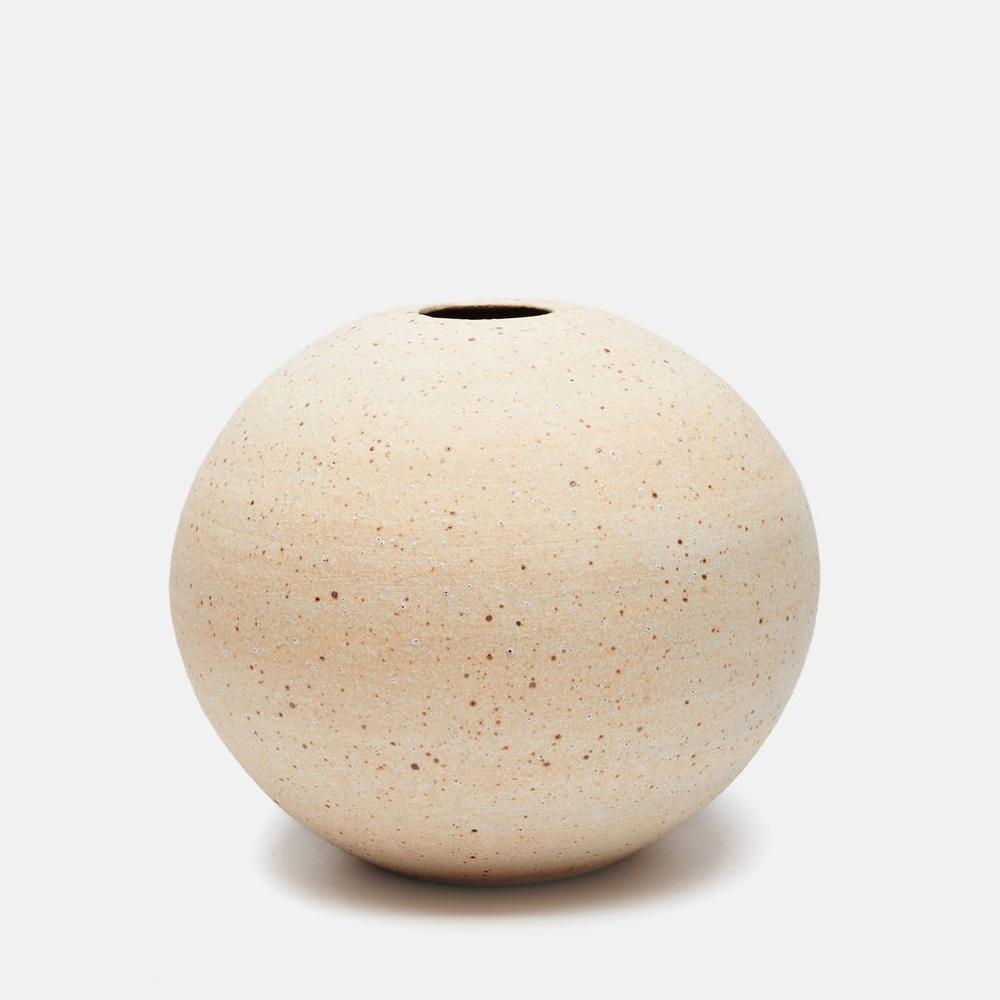 Victoria Morris Matte White Round Vase