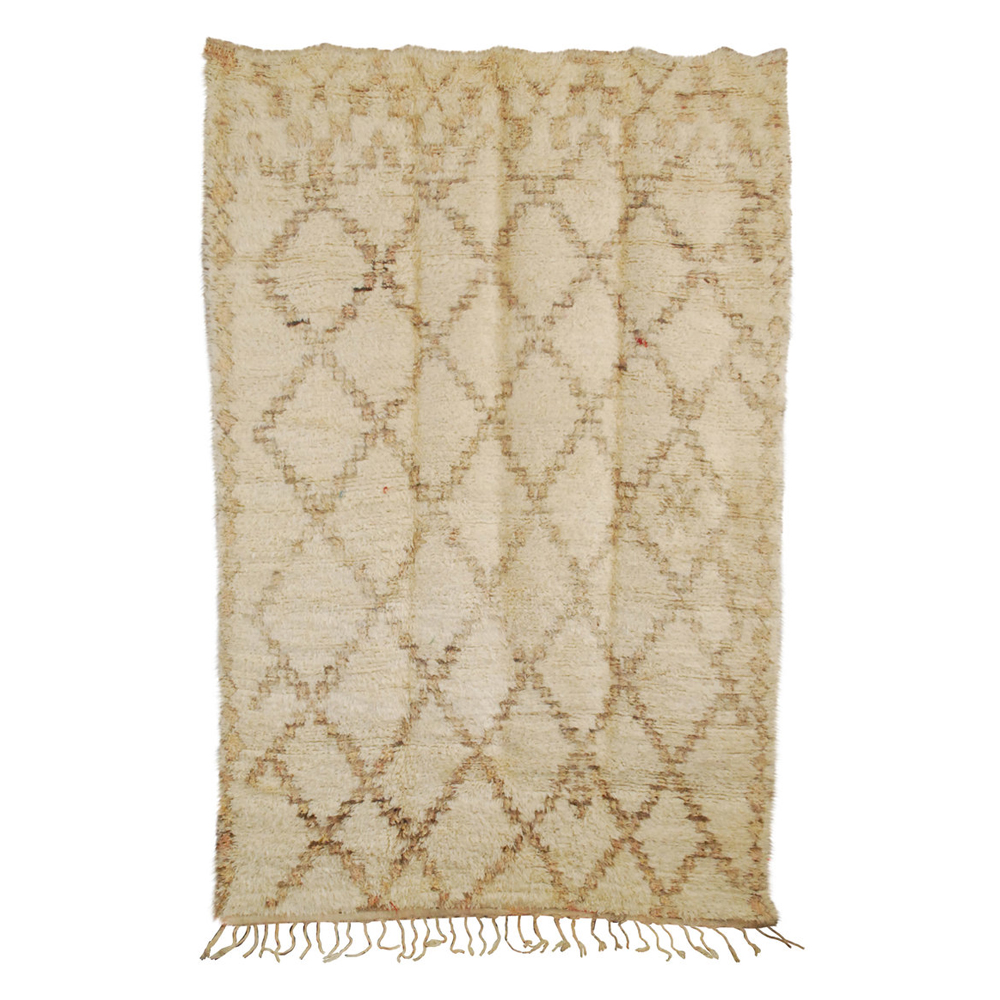 Vintage Moroccan Beni Ourain Carpet