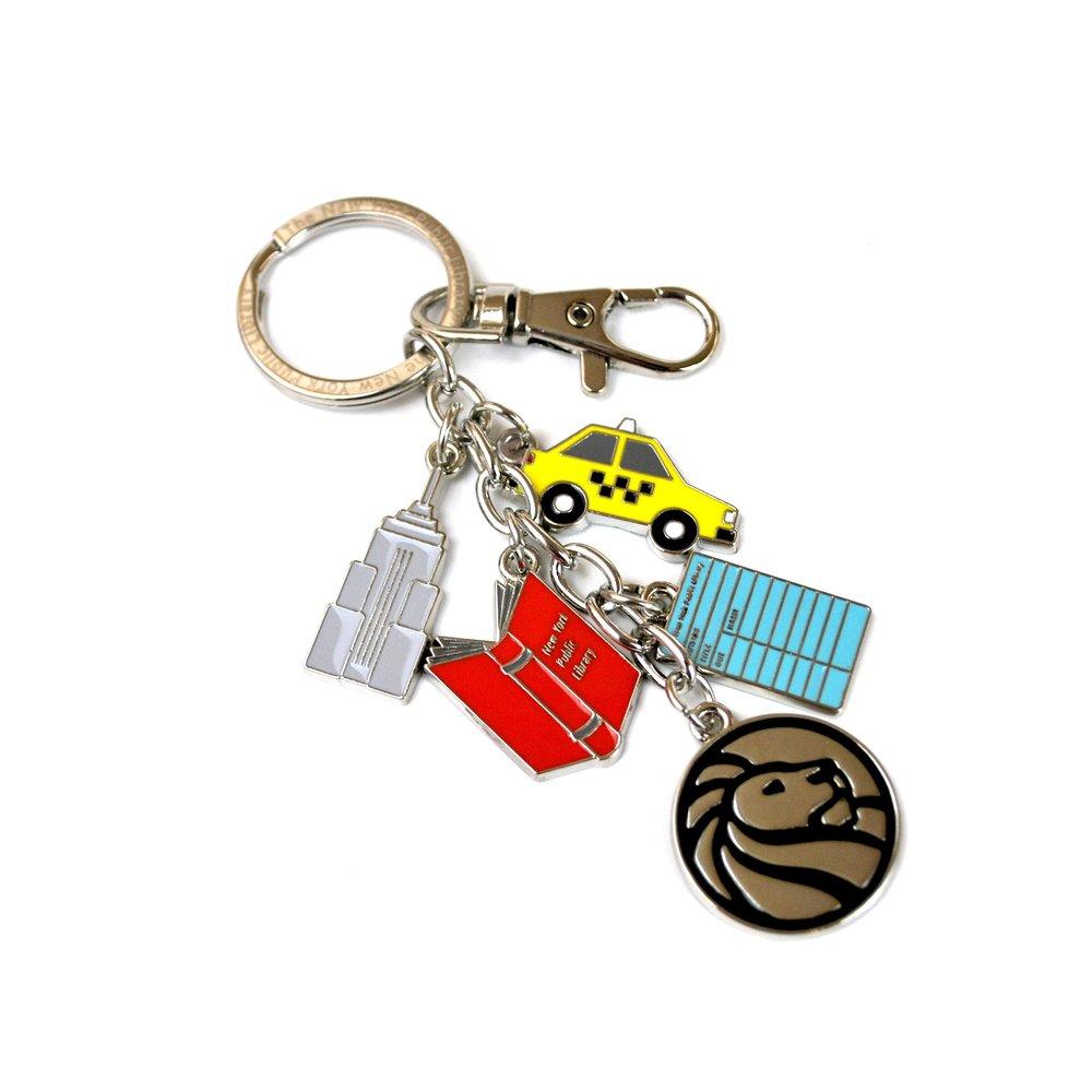 NYPL Charm Keychain