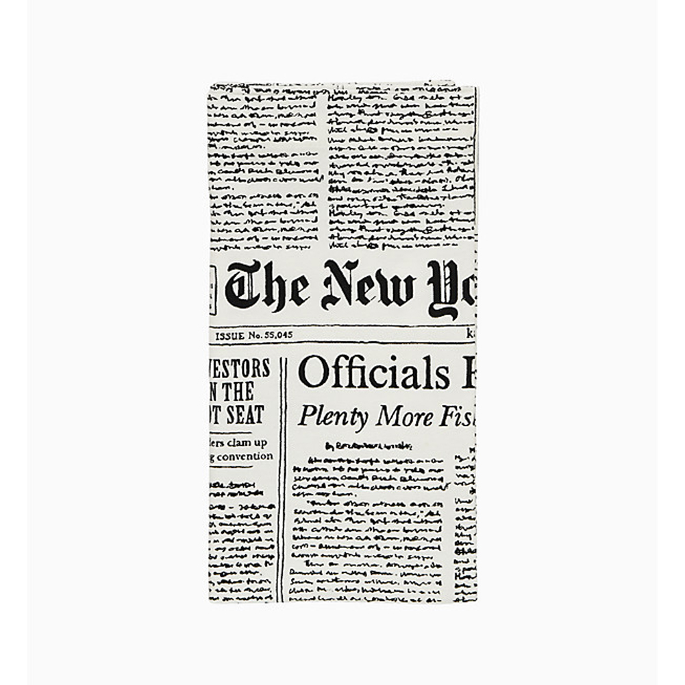 newspaper napkin