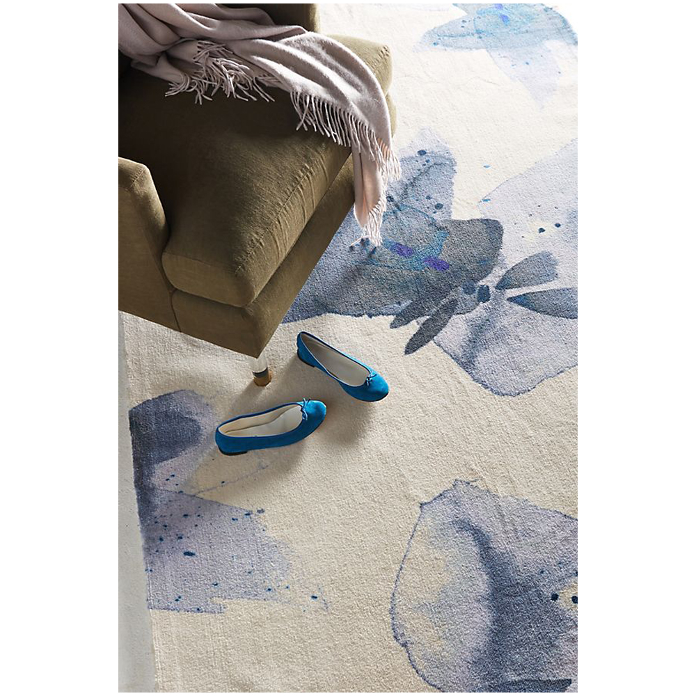 Emily Jeffords Azul Watercolor Rug