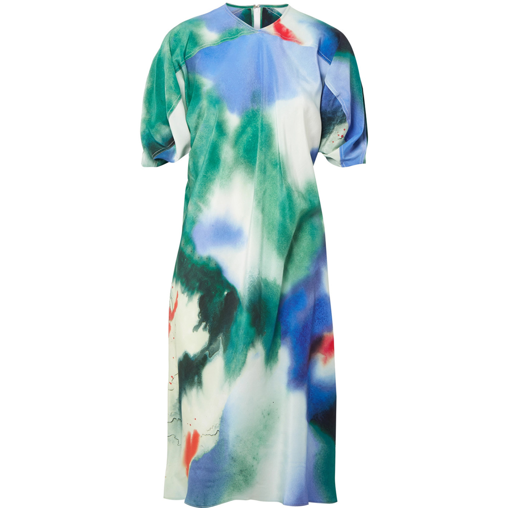 LEMAIRE Printed silk dress